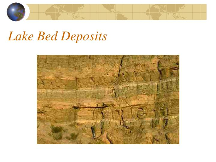 Lake Bed Deposits
