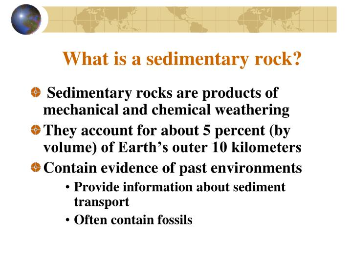 What is a sedimentary rock