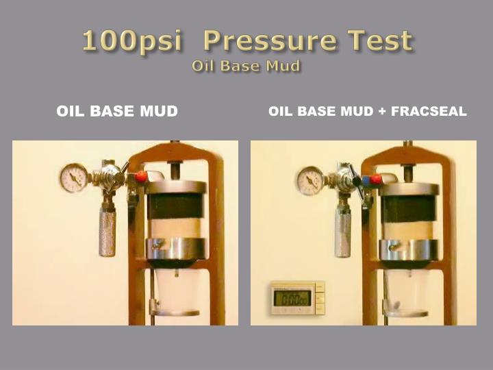 100psi  Pressure Test