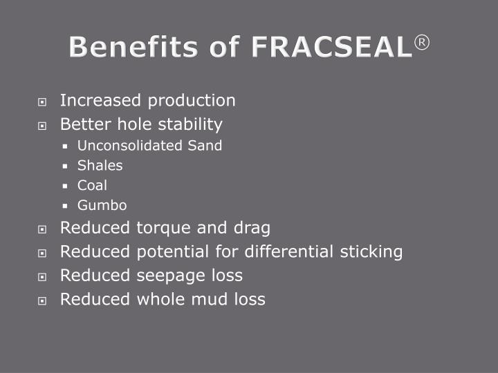 Benefits of FRACSEAL