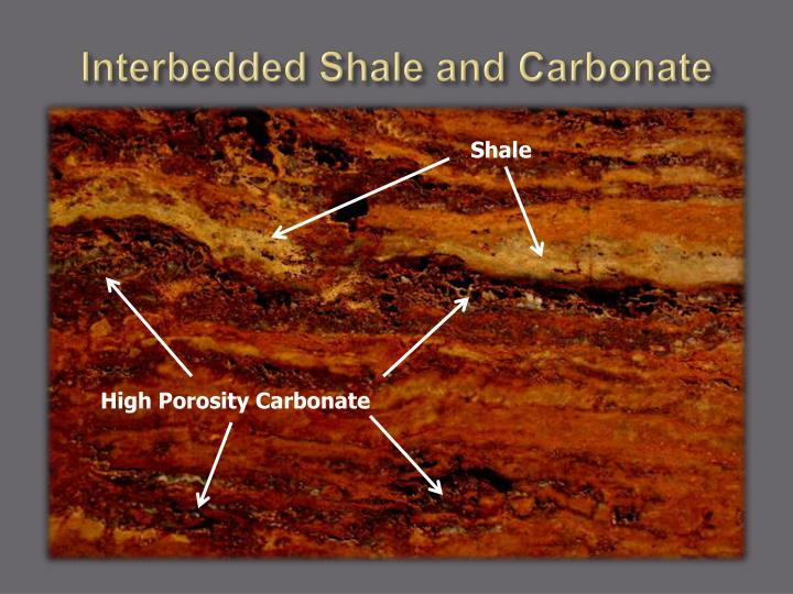 Interbedded Shale and Carbonate