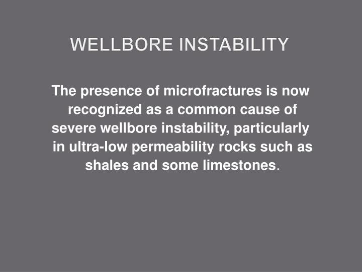 Wellbore instability