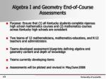 algebra i and geometry end of course assessments