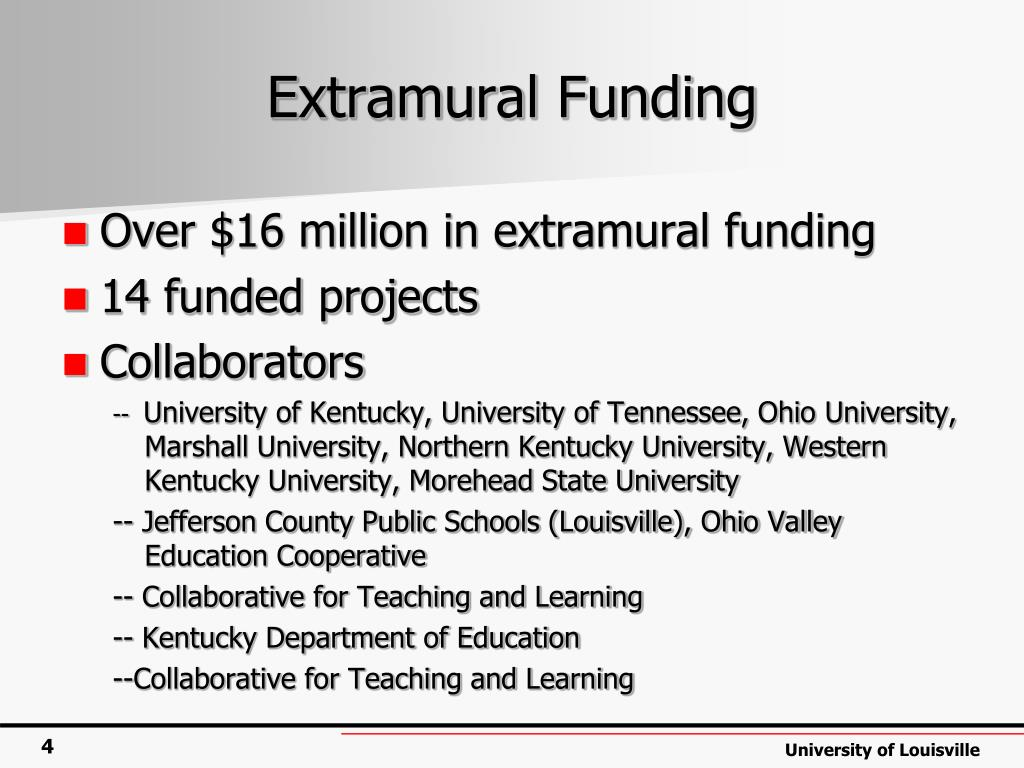 Extramural Funding