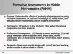 formative assessments in middle mathematics famm