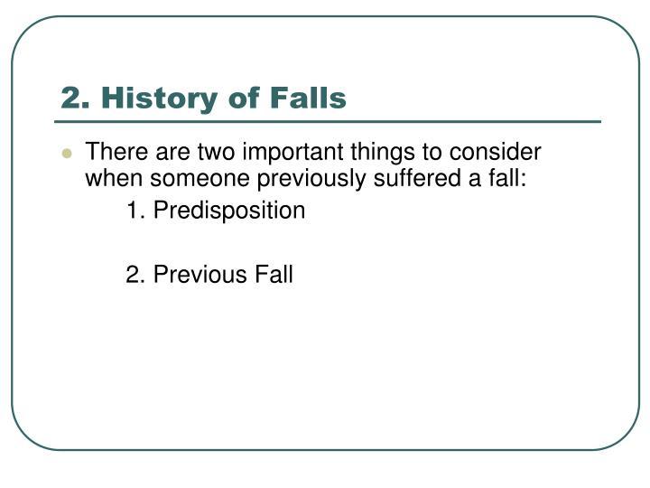 2. History of Falls
