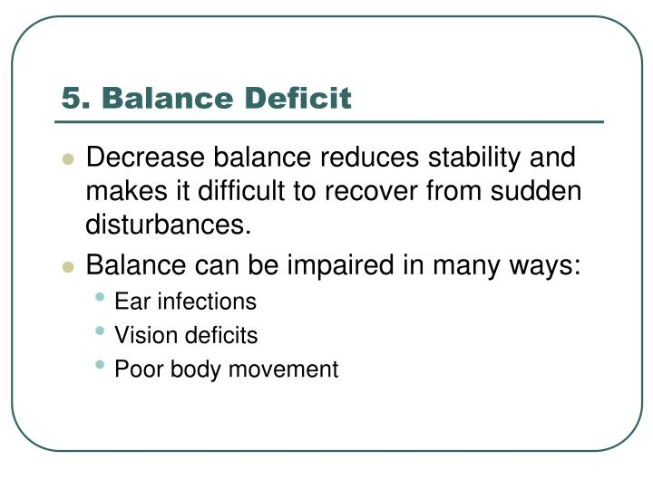 5. Balance Deficit