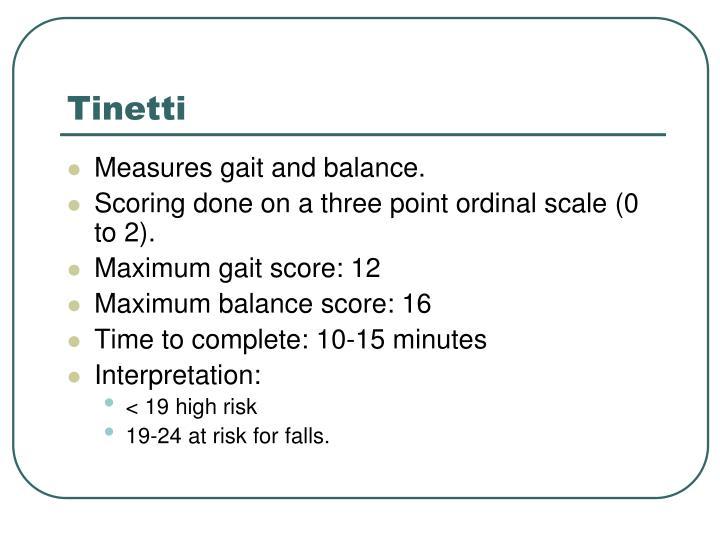 Tinetti
