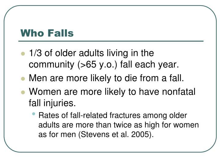 Who Falls