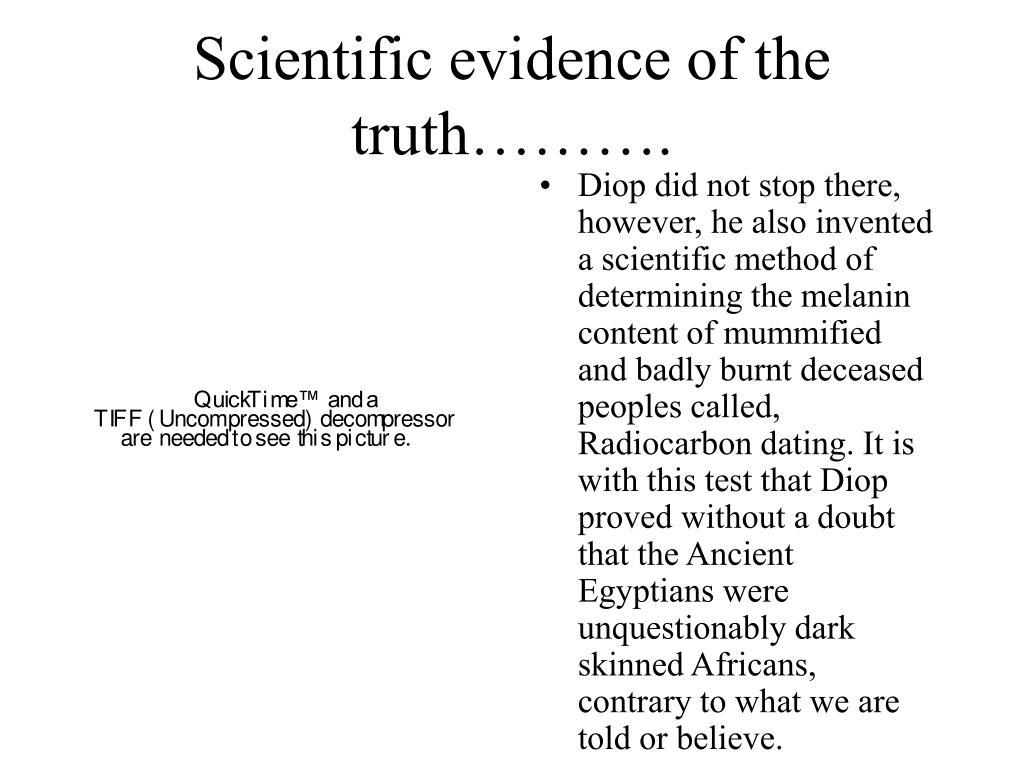 Scientific evidence of the truth……….