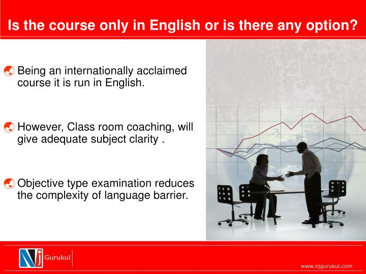 Is the course only in English or is there any option?