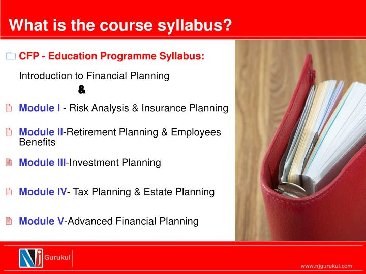 What is the course syllabus?