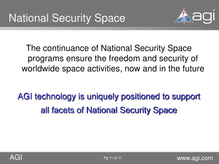 National Security Space