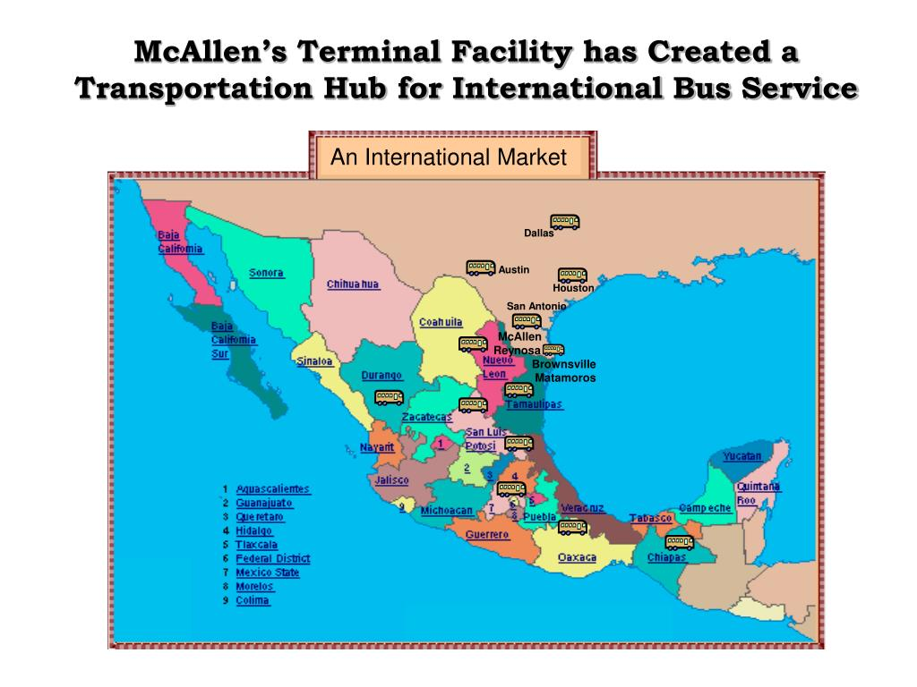 McAllen's Terminal Facility has Created a Transportation Hub for International Bus Service