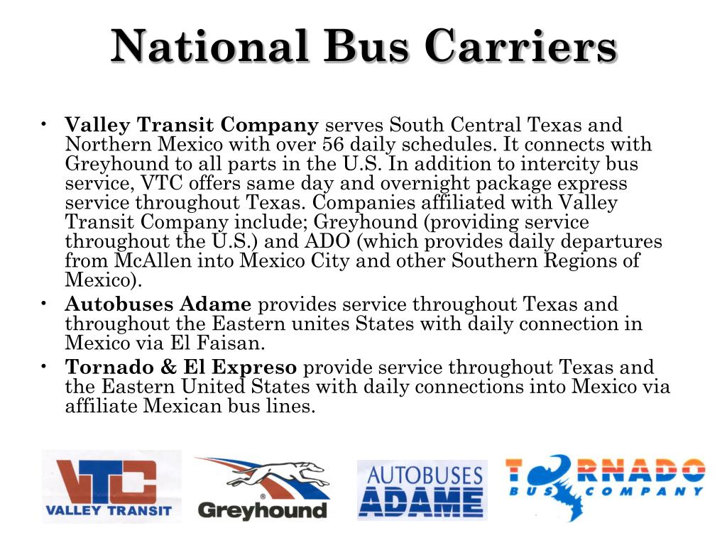 National Bus Carriers