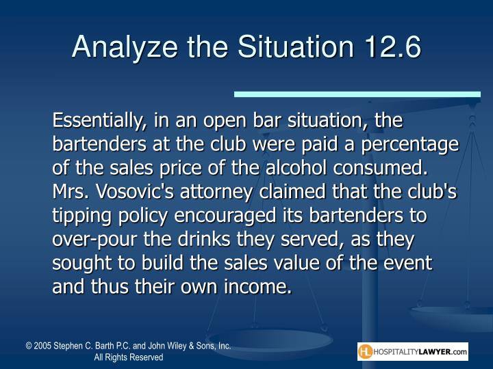 Analyze the Situation 12.6