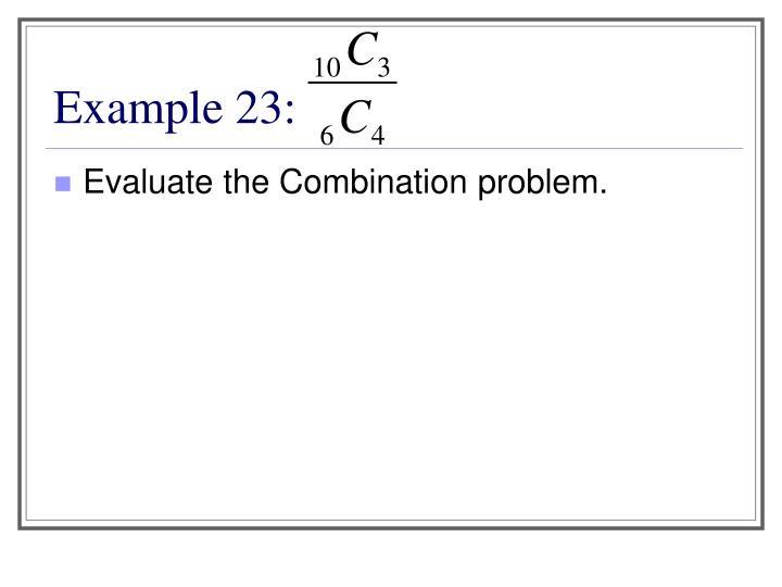 Example 23: