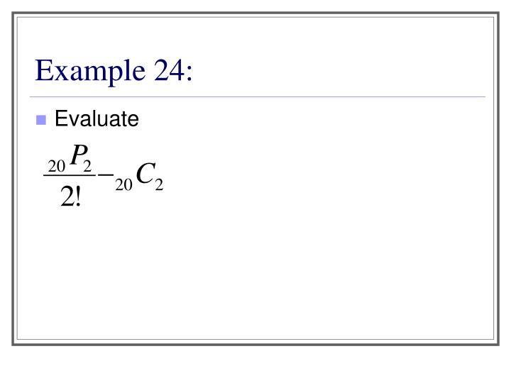 Example 24: