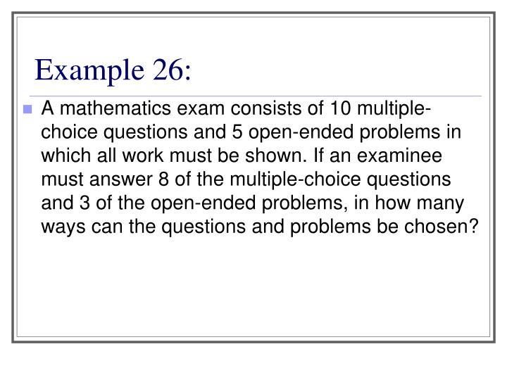 Example 26: