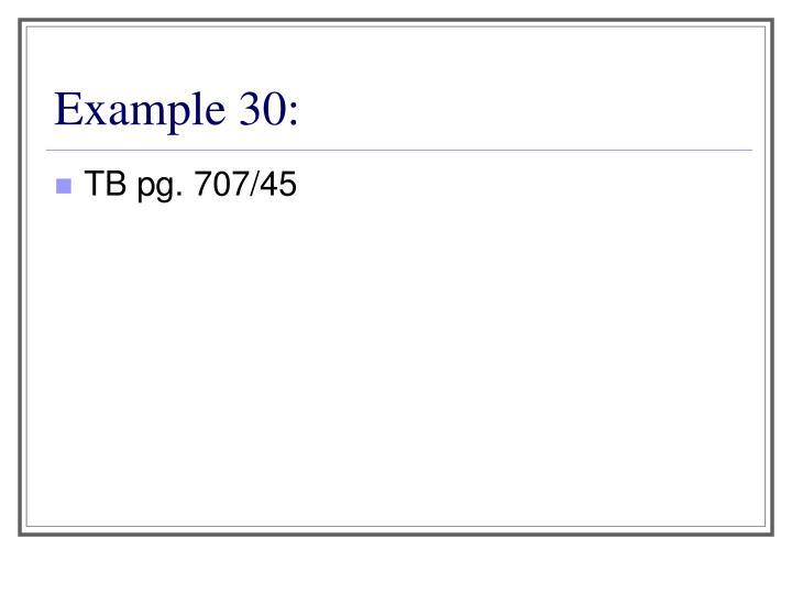 Example 30: