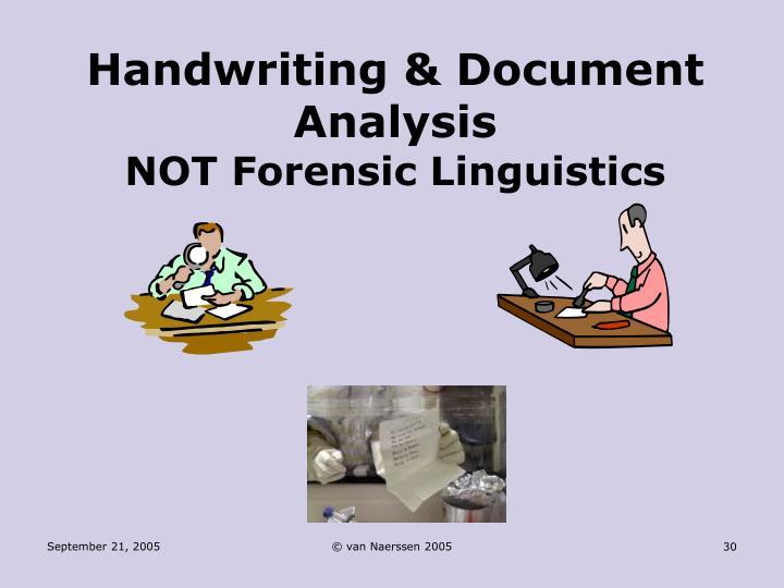 Forensic Handwriting Analysis – Expert Introduction to Handwriting Analysis