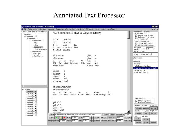 Annotated Text Processor