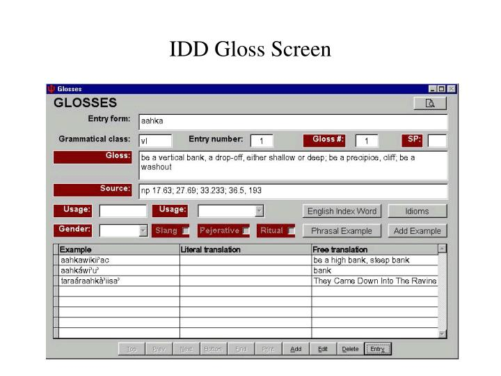 IDD Gloss Screen