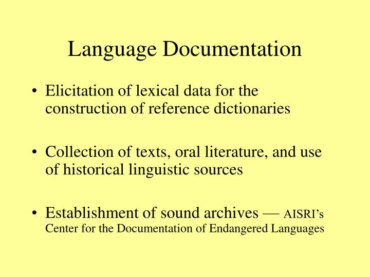 Language Documentation