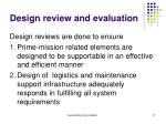 design review and evaluation