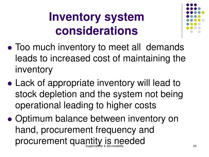Inventory system considerations