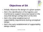 objectives of sa