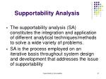 supportability analysis