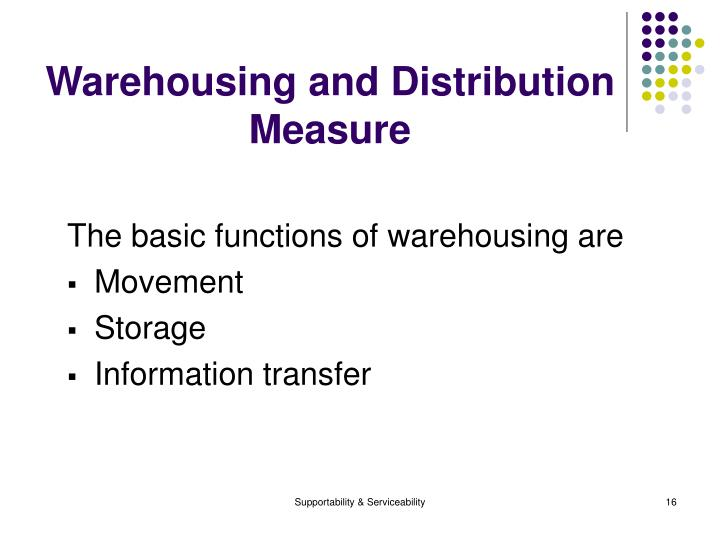 Warehousing and Distribution Measure