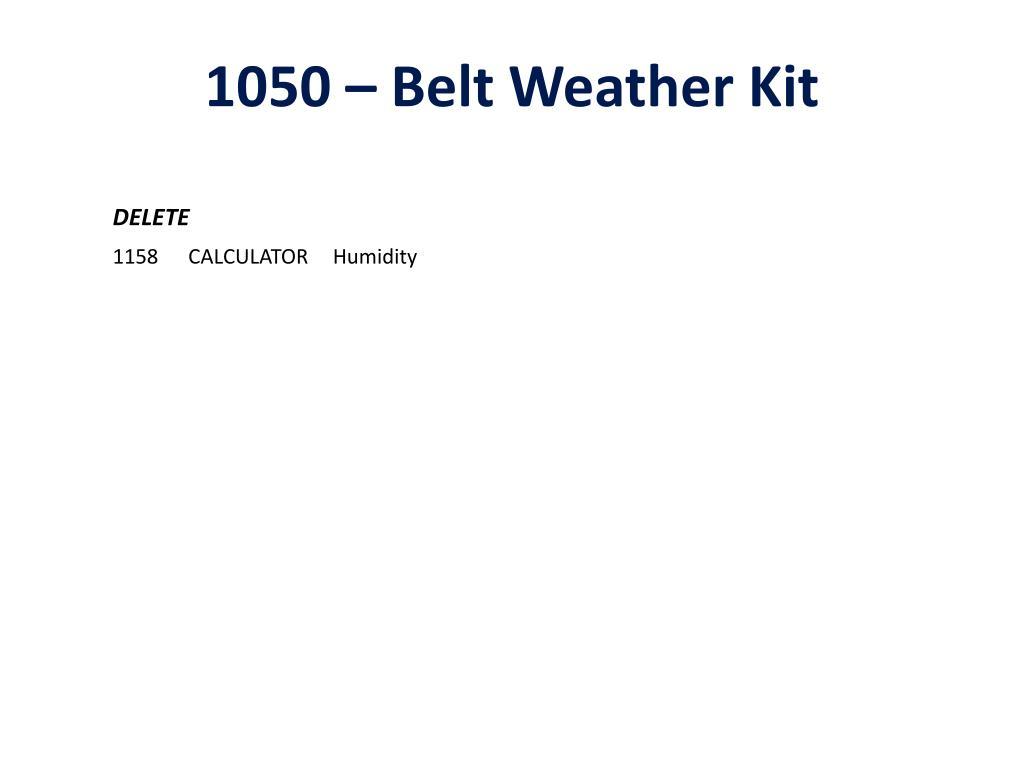 1050 – Belt Weather Kit