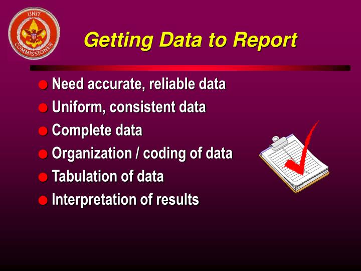Getting Data to Report