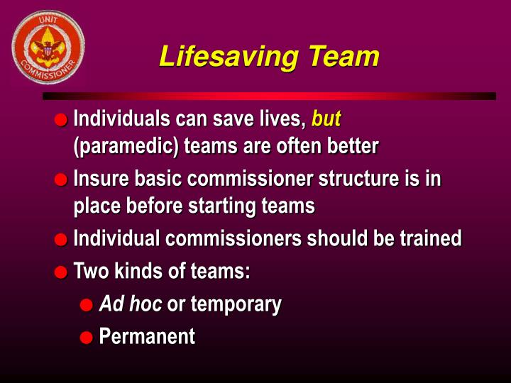 Lifesaving Team