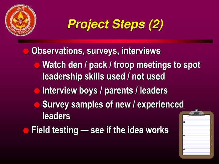Project Steps (2)