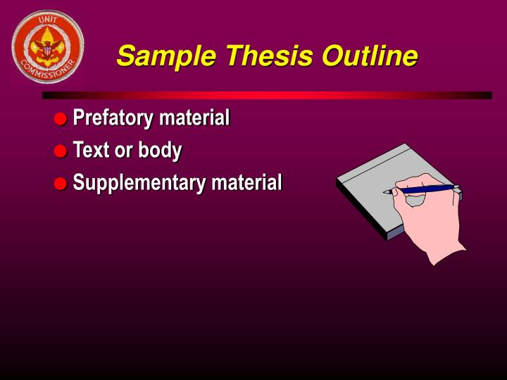 Sample Thesis Outline