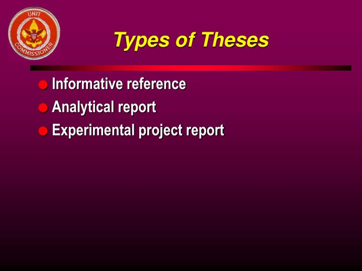 Types of Theses