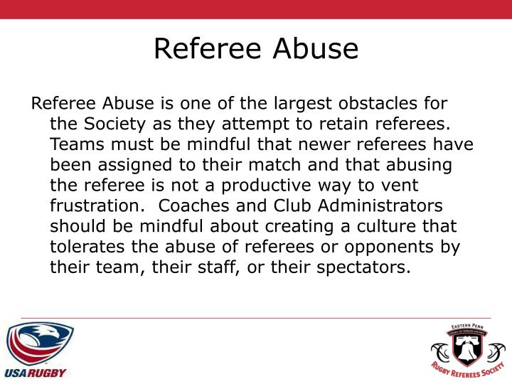 Referee Abuse
