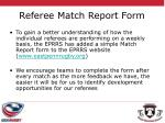 referee match report form