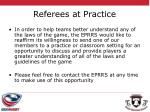 referees at practice