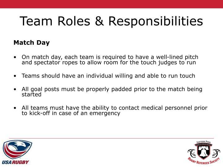 Team Roles & Responsibilities