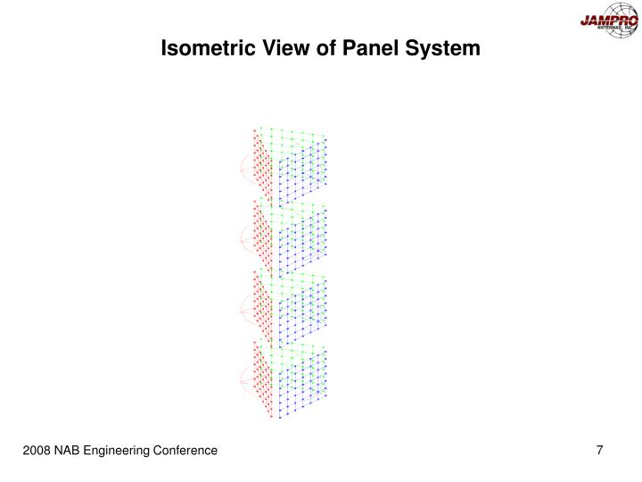 Isometric View of Panel System