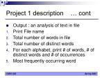 project 1 description cont