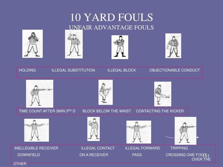 10 YARD FOULS