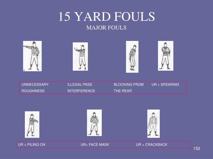 15 YARD FOULS