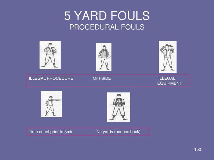 5 YARD FOULS