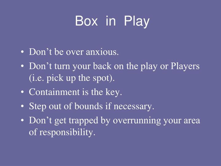 Box  in  Play