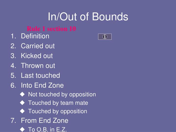 In/Out of Bounds